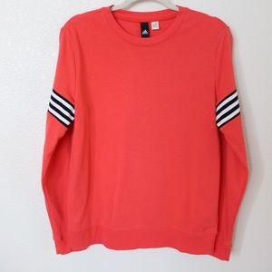 Adidas Pullover Sweatshirt Coral Three Stripe